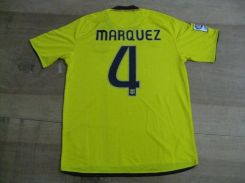 08-09 FC BARCELONA NEW JERSEY MARQUEZ + FREE SHORT (SIZE M)