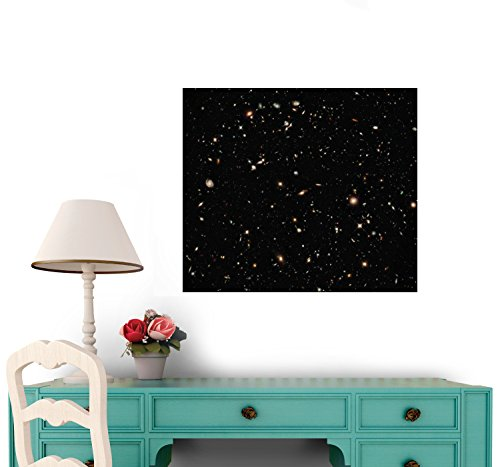 New Galaxies Seen With The Hubble Space Telescope Wide Field Camera Wall Decal - 48 Inches W X 42 Inches H - Peel And Stick Removable Graphic