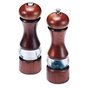 Olde Thompson 7-1/2-Inch Dover Wood/Acrylic Peppermill and Salt Shaker