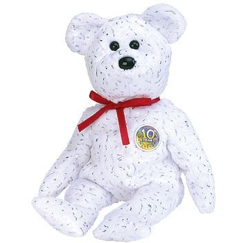 "Ty Beanie Babies ""Decade"" Bear (Royal Blue)"