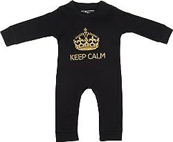 Lil Penguin Baby Boys' Cotton Romper (LP09B2, Black, 9-12 months)