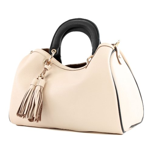 LOOKAT, Borsa a mano donna Beige Champagne