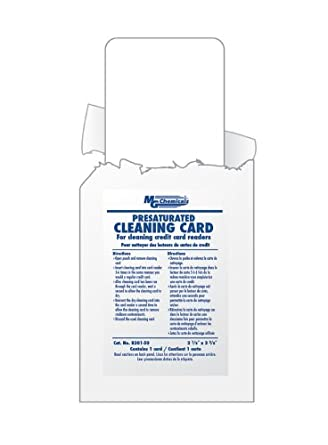"""MG Chemicals 8301 99.9% Isopropyl Alcohol Presaturated Cleaning Card, 2-1/8"""" Length x 3-3/8"""" Width"""
