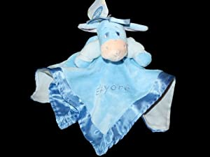 Eeyore Disney Baby Blue Plush Security Blanket Lovey