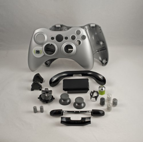 Silver Xbox 360 Controller Shell Housing (Transforming D-Pad)