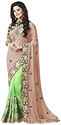 Blossom Boutiques Women's Georgette Saree (2704_1)