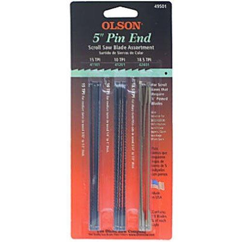 Olson Saw FR49501 Pin End Scroll Saw Blade (Dewalt Scroll Saw Blades compare prices)