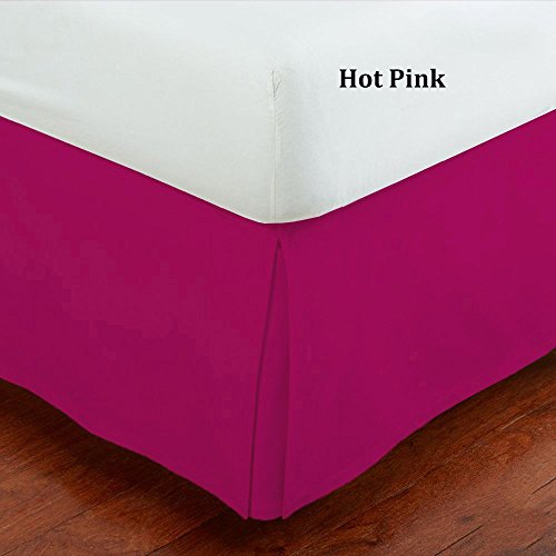 Mk Collection Queen Size 100% Finest Quality Long Staple Brushed Microfiber Comfortable Quadruple Pleated Bed-skirt Solid Hot Pink New (Hot Pink Bed Skirt compare prices)