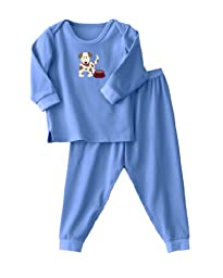 HALO ComfortLuxe 2 Piece Set Flannel, Blue Dog, 18 Months