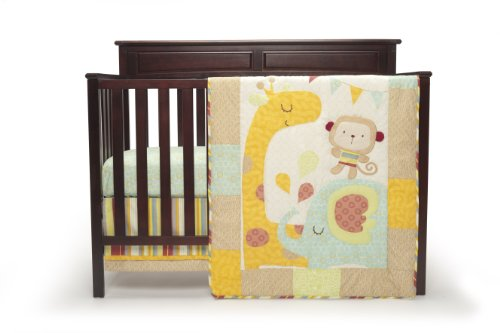 Graco 4 Piece Crib Bedding Set, Jungle Friends (Discontinued by Manufacturer) - 1