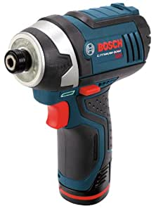Bosch PS41-2A 12-Volt Max Lithium-Ion 1/4-Inch Hex Impact Driver Kit with 2 Batteries, Charger and Case