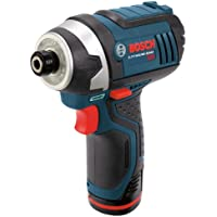 Bosch 12-Volt 1/4-in Cordless Variable Speed Impact Driver with Soft Case (Blue)