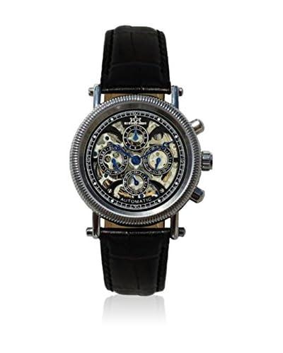 Hindenberg Reloj automático  Cuero / Plata / Negro 38 mm