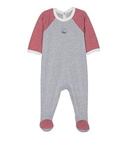 Petit Bateau - Dors bien bébé garçon - gris / rouge - 18 mois