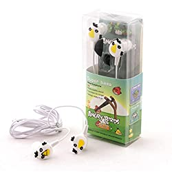 Techwich Angry Bird Style 3.5mm Plug in-Ear Earphone - White (with Clip Mic)