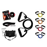 Ripcords Resistance Bands - Power Tension 5 Pack: Exercise Bands, Circuit7 DVD, Door Anchor, Travel Bag, Manualby Ripcords