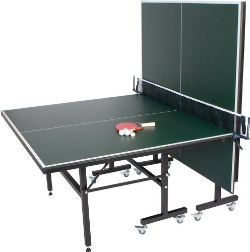 Best Deals! Trademark Innovations Premium Ping Pong Table Portable with Net - Table Tennis Table