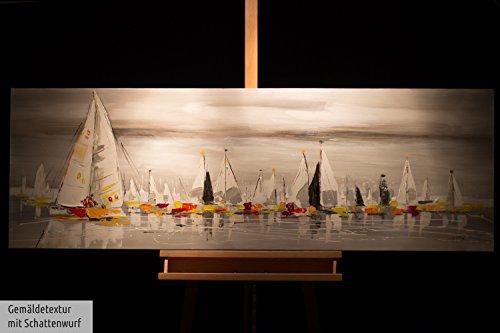 kunstloft peinture acrylique 39 les sept mers 39 150x50cm peinte la main sur toile xxl. Black Bedroom Furniture Sets. Home Design Ideas