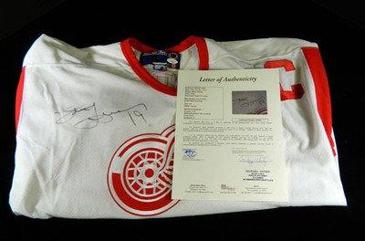 Signed Steve Yzerman Jersey - CCM Replica - JSA Certified - Autographed NHL Jerseys
