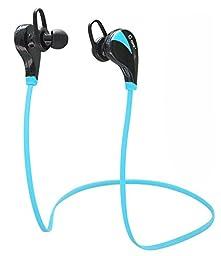 Bluetooth Headphones, TOTU Wireless Bluetooth Stereo Earbuds Sweatproof Running Headset In-Ear Sports Headphones with Microphone - Blue