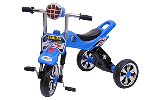 Happy Kids Tricycle with Lights and Music (Blue)