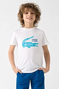 Boy's Short Sleeve Large Croc Print Graphic T-Shirt