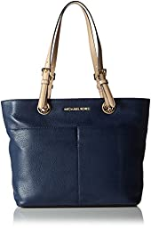 Michael Kors Bedford Women\'s Leather Tote Handbag Purse Blue