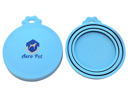 Aero Pet Can Covers | 2 Pack | Universal BPA Free Silicone Pet Food Can Lid Covers | One Size Fits All Standard Size Dog and Cat Can Tops (Silicone Can Lid compare prices)