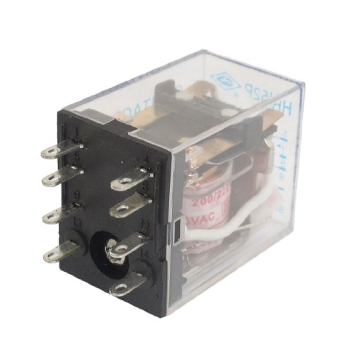 Hh52P Ac 220V Coil 8 Pin Dpdt Plug-In Led Indicator Power Relay 5A 240Vac 28Vdc