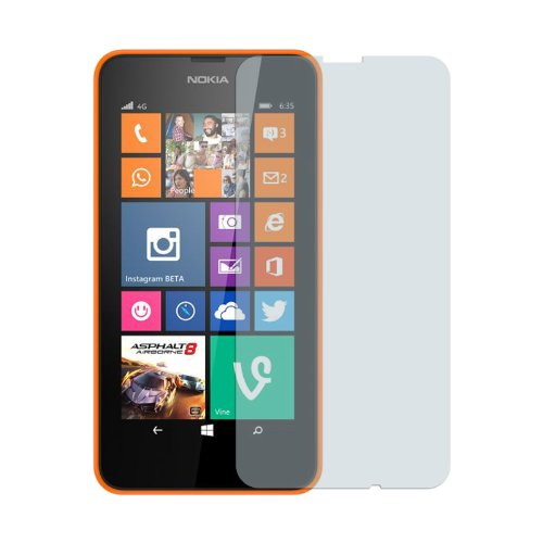 Nokia Lumia 635 - Premium Clear Screen Protector + Atom Led Keychain Flashlight