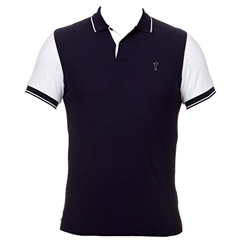golfino-homme-polo-extra-dry-golf-avec-manches-contrastees-marine-l-bleu-marine