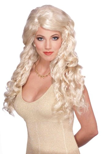 Blonde Goddess Curly Adult Female Costume Wig
