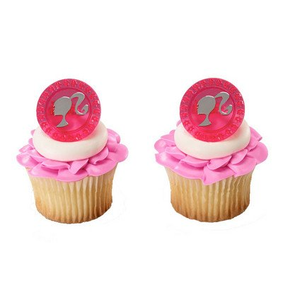 DecoPac Barbie Jewel Cupcake Rings (12 Count) - 1