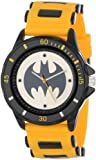 Batman Mens BAT9065 Yellow Rubber Strap Analog Watch