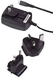 BlackBerry Micro-USB Travel Charger with Global Adapter Clips - Original OEM ASY-18080-001 ASY-18080-003 ACC-39344-301