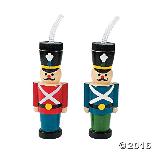 Nutcracker Cups with Straws
