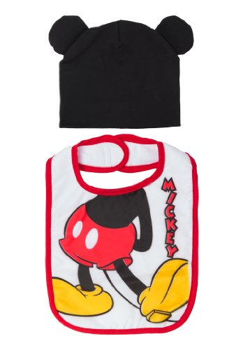 Mickey Mouse Baby Bib And Cap Set front-186557