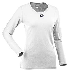 Houston Astros Ladies Relax Long Sleeve Tee (White) by Antigua