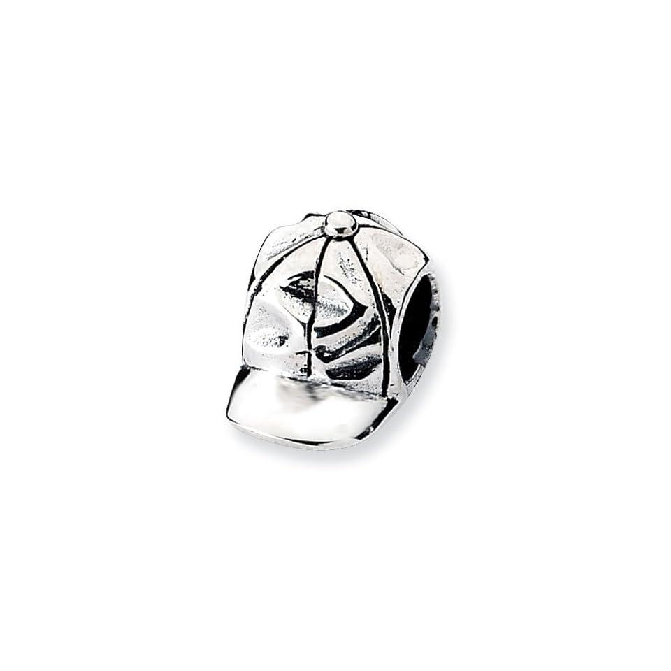 Sterling Silver Baseball Cap Charm Bead Fits Pandora Chamilia Biagi Bracelet