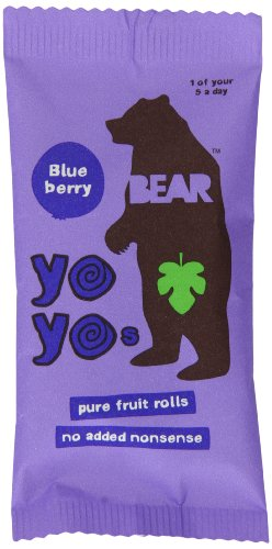 Bear Yoyo 100 Percent Fruit Rolls Blueberry 20 g (Pack of 18)