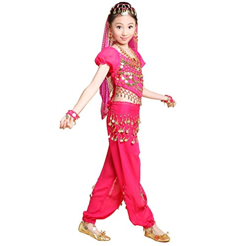 Pilot-trade Kids Cos Play Belly Dance Costumes 5-Pieces Set