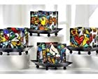 Britto Glass Candle Holder