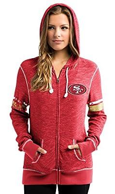 "San Francisco 49ers Women's Majestic NFL ""Athletic"" Full Zip Hooded Sweatshirt"
