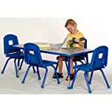 Creative Colors W3060RD-TB Activity Table, Ball Glides, Toddler Height, 30