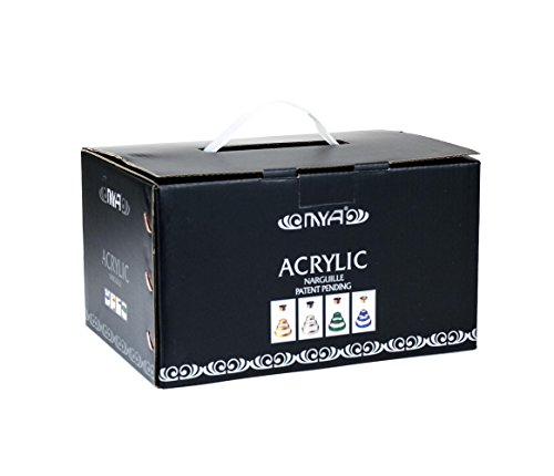 MYA-Saray-Mini-Acrylic-Hookah-Box-Set-17-2-Hoses-Green-Exclusive