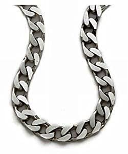Mens Plain Necklace Silver Chain 51cm Length Model Sc31620