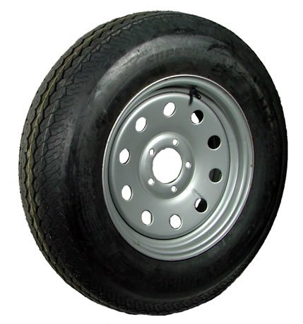15″ x 5″ Silver Modular Trailer Wheel  radial