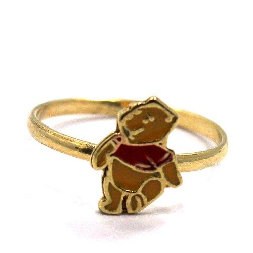 Gold Plated Gf Teddy Bear Winnie the Pooh Cartoon