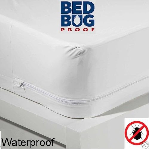 For Sale! Twin Size Zippered Mattress Cover Vinyl Keeps Out Bed Bugs & Dust Mites Water Resistan...