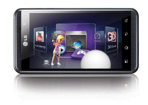 LG Optimus 3D P920 Sim Free Touch Screen Android Mobile Phone - Black